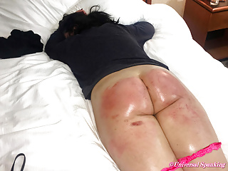Naughty Girl Strapped and Paddled Hard!